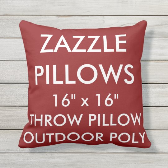 Zazzle Custom RED Outdoor Throw Pillow Template