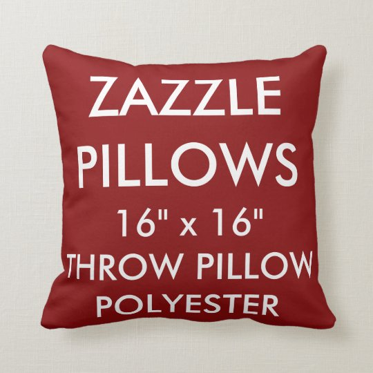 Zazzle Custom RED Polyester Throw Pillow Blank