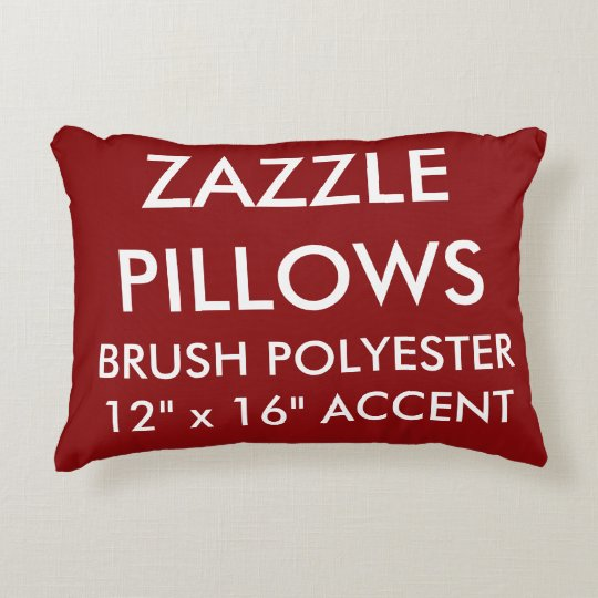 Zazzle Custom RICH RED Polyester Accent Pillow
