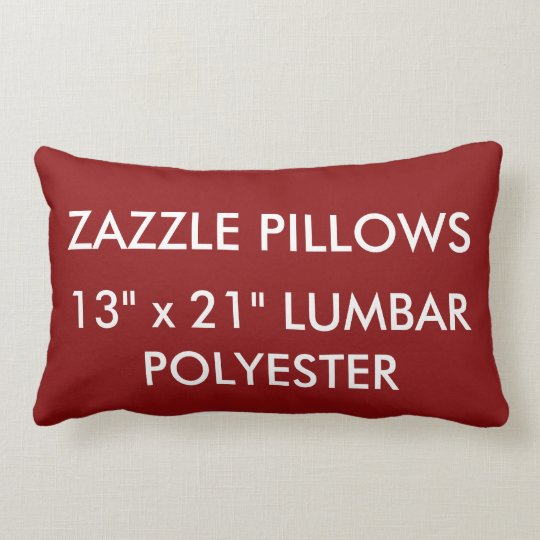 Zazzle Custom RICH RED Polyester Lumbar Pillow