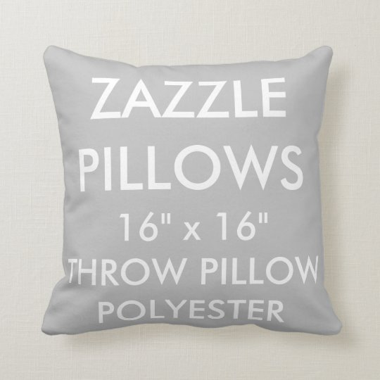 Zazzle Custom SILVER Polyester Throw Pillow Blank