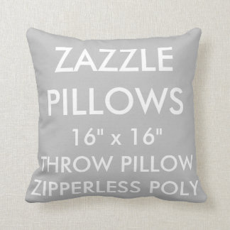Zazzle Custom SILVER Zipperless Poly Throw Pillow