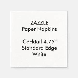 ZAZZLE Custom Small WHITE Cocktail Paper Napkins
