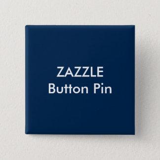 Zazzle Custom Square Button Pin Blank DARK BLUE