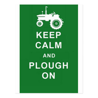 zazzle keep calm plough.jpg postcard