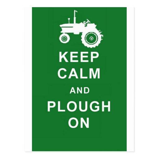 zazzle keep calm plough.jpg post card