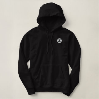 "Zazzle logo - 2"" CircleZ Embroidered Hoodie"