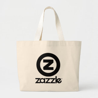 zazzle logo stacked large tote bag