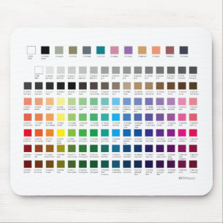 ZAZZLE PALETTE | with hex codes Mouse Mat