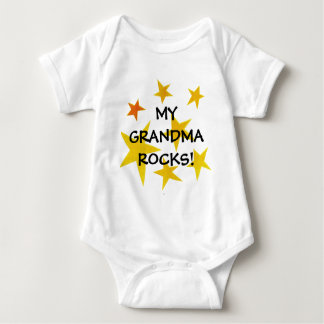 zazzle pix 008m, MY  GRANDMA  ROCKS! Baby Bodysuit