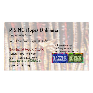 ZAZZLE ROCKS - Rising Hopes Unlimited Pack Of Standard Business Cards