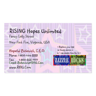 ZAZZLE ROCKS - Rising Star Selection Business Card Template