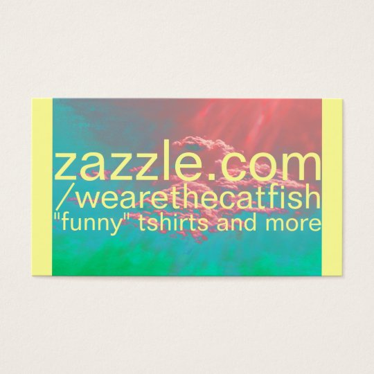 zazzle store business card