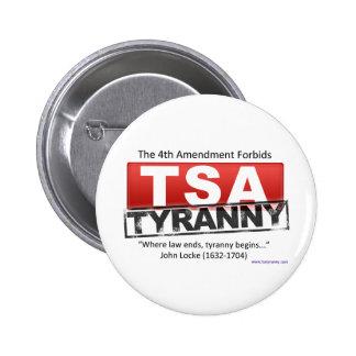 Zazzle TSA Tyranny Image 6 Cm Round Badge