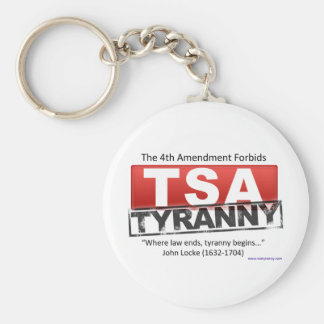 Zazzle TSA Tyranny Image Basic Round Button Key Ring