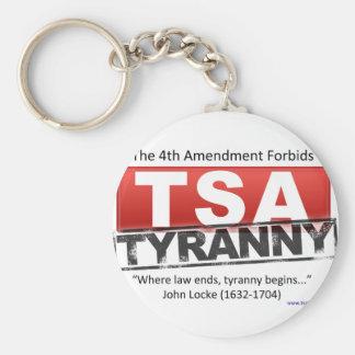 Zazzle TSA Tyranny Image Basic Round Button Key Ring