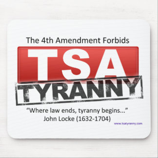 Zazzle TSA Tyranny Image Mouse Mat
