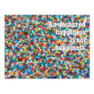 Zazzle - Unshared Happiness (Landscape).ai Post Card