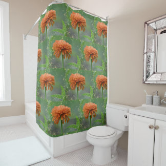 Zazzled Zinnia Shower Curtain