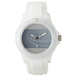 ZazzleJewelry  Custom Sporty White Silcom Watch