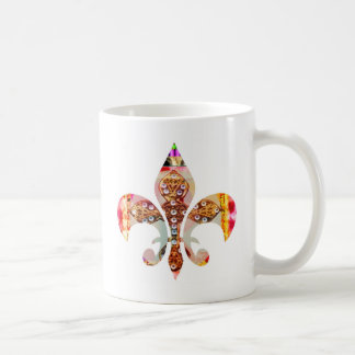 ZazzleRocks: Fleur-de-Lis Series Basic White Mug