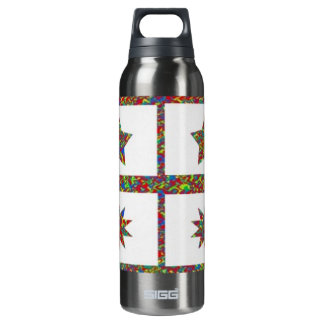 Zazzling Jewel n Star Designs: Super 16 Oz Insulated SIGG Thermos Water Bottle