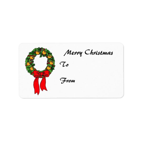 ZB- Christmas Wreath Gift Tags