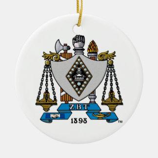 ZBT Crest Color Christmas Ornament