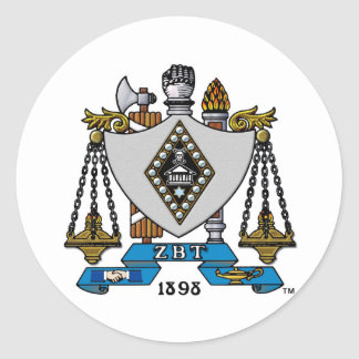 ZBT Crest Color Classic Round Sticker
