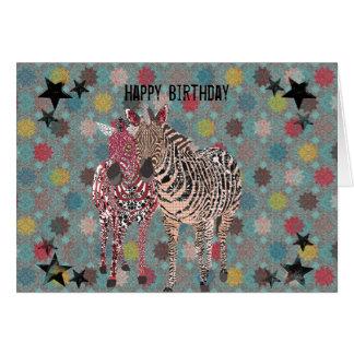 Zeb & Zenya Birthday Card