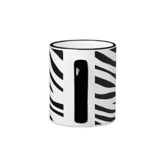 Zebbra Stripes Black and White Ringer Mug