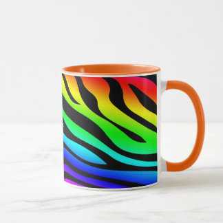 Zebbra Stripes Rainbow Mug
