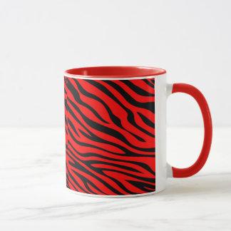 Zebbra Stripes Red Mug