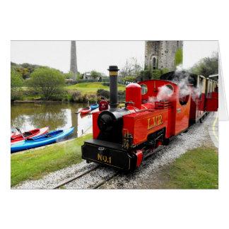 Zebedee steam engine at Lappa Valley Greeting Card