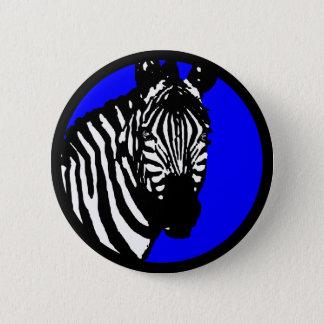 zebra. 6 cm round badge