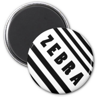 Zebra 6 Cm Round Magnet