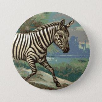 Zebra 7.5 Cm Round Badge