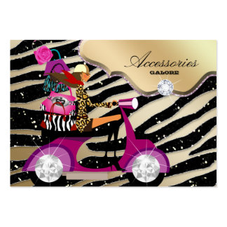 Zebra Accessories Purse Jewelry Gold Black Sparkle Pack Of Chubby Business Cards