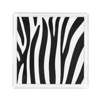 Zebra Acrylic Tray