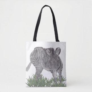 Zebra, African Animal, Wild Life Tote Bag