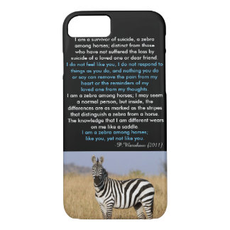 Zebra Among Horse iPhone 7 Case