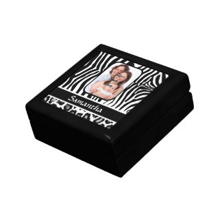 Zebra and cheetah print gift box
