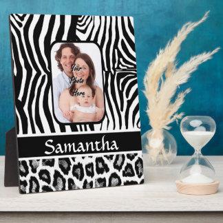 Zebra and cheetah print plaque