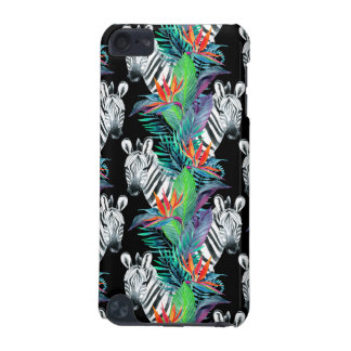 Zebra And Exotic Flowers Pattern iPod Touch 5G Cover