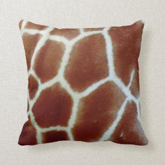Zebra and giraffe pillow cushion