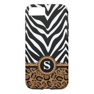 Zebra and Leopard Monogram iPhone 7 Case