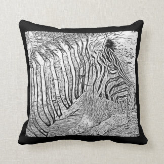 Zebra and lion Throw Pillow with quote on back