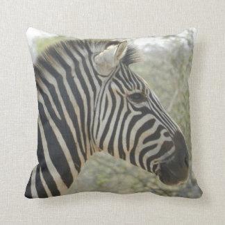Zebra and Vervet Monkey Pillow