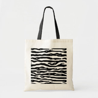 Zebra Animal Print Black White Stripes Pattern Budget Tote Bag