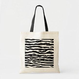 Zebra Animal Print Black White Stripes Pattern Tote Bag